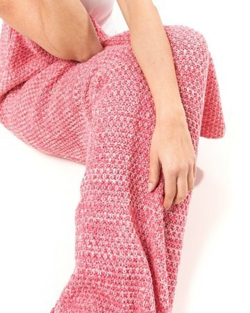 Mermaid tail blanket deluxe - PINK