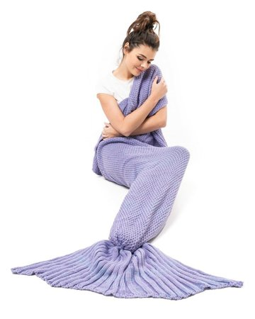 Mermaid tail blanket deluxe - PURPLE