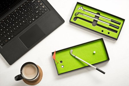 Golf pen set delux with green