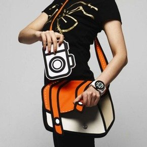 Cartoon bag 3D - orange