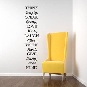 Deco wall sticker THINK DEEPLY