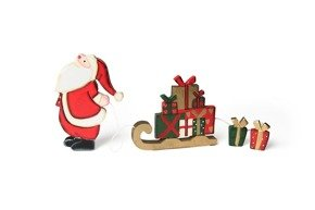 Figurine of Santa with sleighs