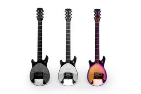 Guitar metal tea spoons 3 pcs