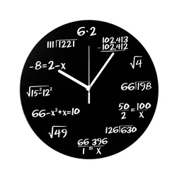 Math clock black