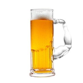 Muscle beer glass