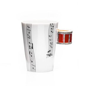Music mug - DRUM - red