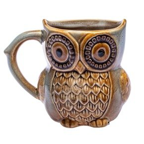 Owl mug - AQUAMARINE NEW