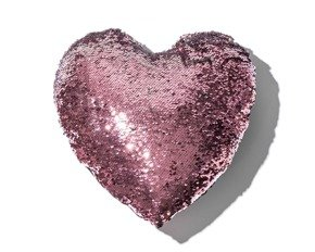 Sequin pillow HEART