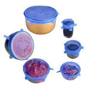 Silicone food covers 6 pcs