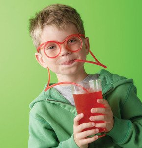 Silly drinking straw - transparent