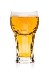Soccer beer glass