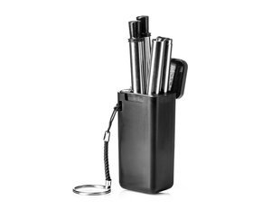 Stainless steel drinking straws (2 pcs/set + brush)