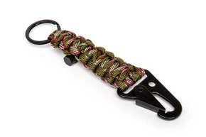 Survival keychain PARACORD - ARMY GREEN