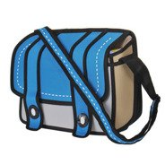 Cartoon bag 3D - blue