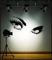 Deco wall sticker Audrey Hepburn's EYES