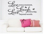 Deco wall sticker LIVE LAUGHT LOVE