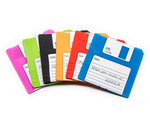 Floppy disk coaster 6 pcs set