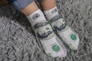 Funy dollar socks