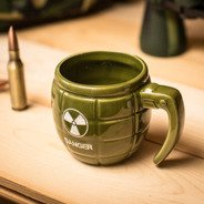 Grenade mug DANGER - GREEN