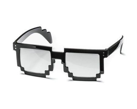 8 bit pixel sunglasses - transparent