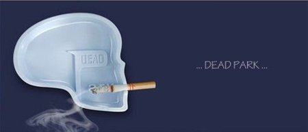 Dead park ashtray - white