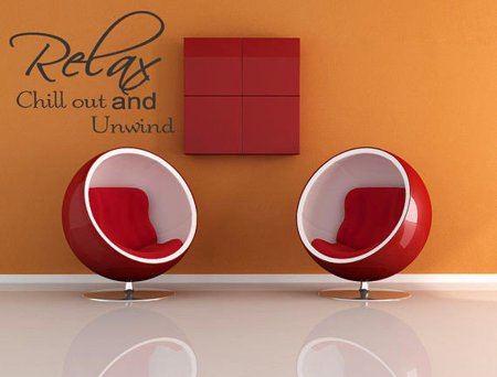 Deco wall sticker RELAX AND CHILL OUT