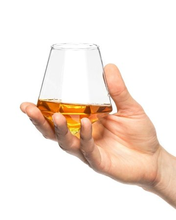Diamond glass for whisky