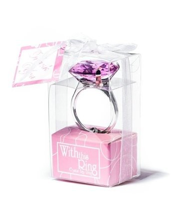 Diamond key ring - pink