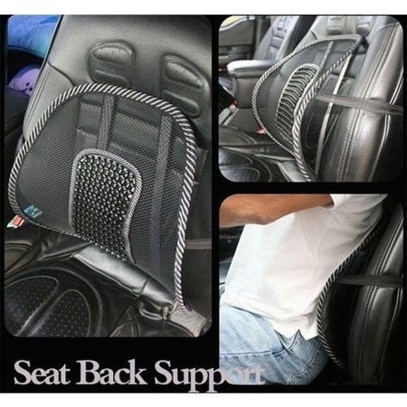 Ergonomic back seat supporter with massager