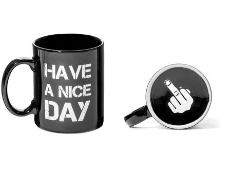 Have a Nice Day Middle Finger Mug - BLACK
