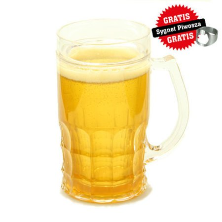 Ice beer mug CHILLER 400 ml - golden