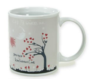 Love color changing mug CLASSIC (round) POLISH