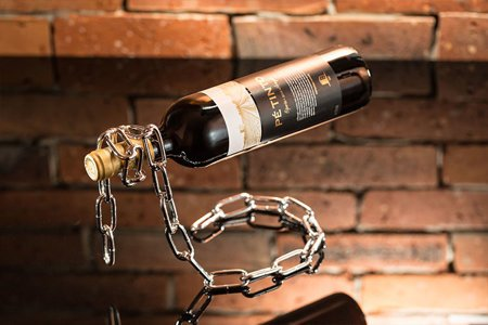 Magic chain bottle holder