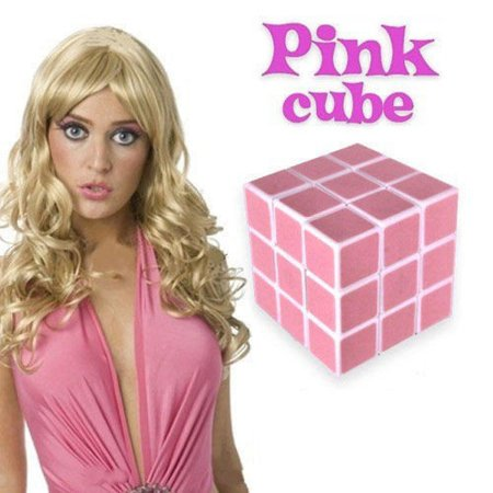 Pink cube for blondes only