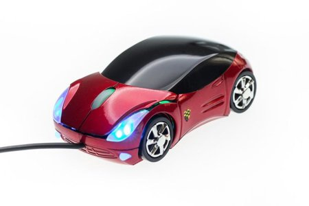 Supercar mouse - red