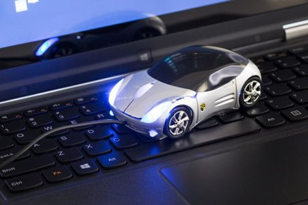 Supercar mouse - silver