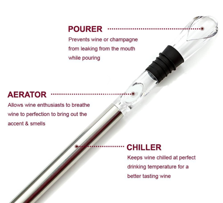 Wine chiller stick 3in 1